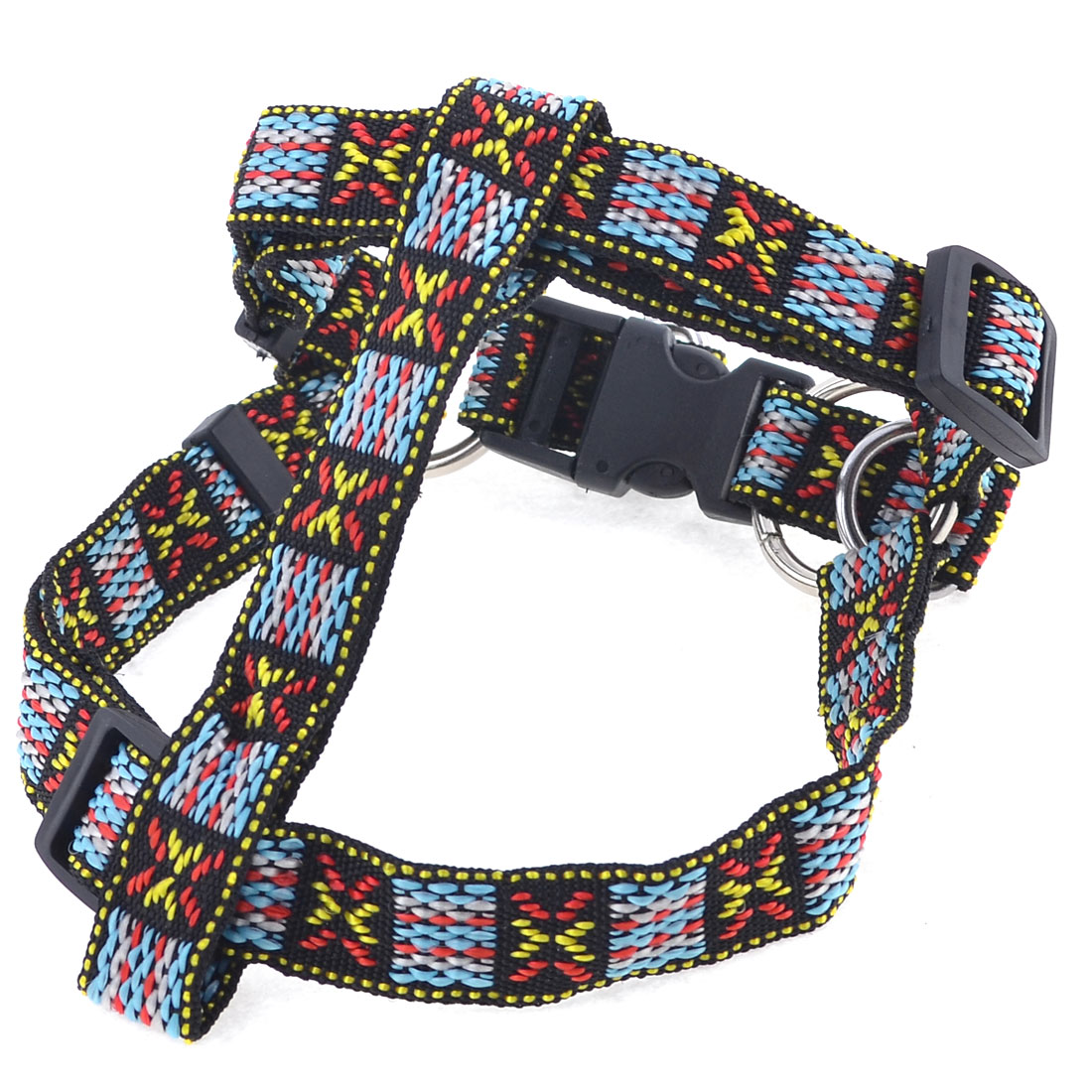 Multicolor Adjustable Doggie Dog Collar Pet Chest Strap Size M