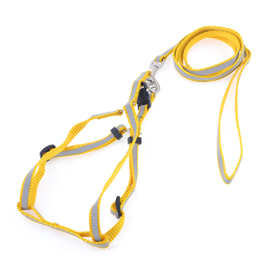 115cm Long Adjustable Reflective Nylon Knitted Doggies Dog Harness Leash M