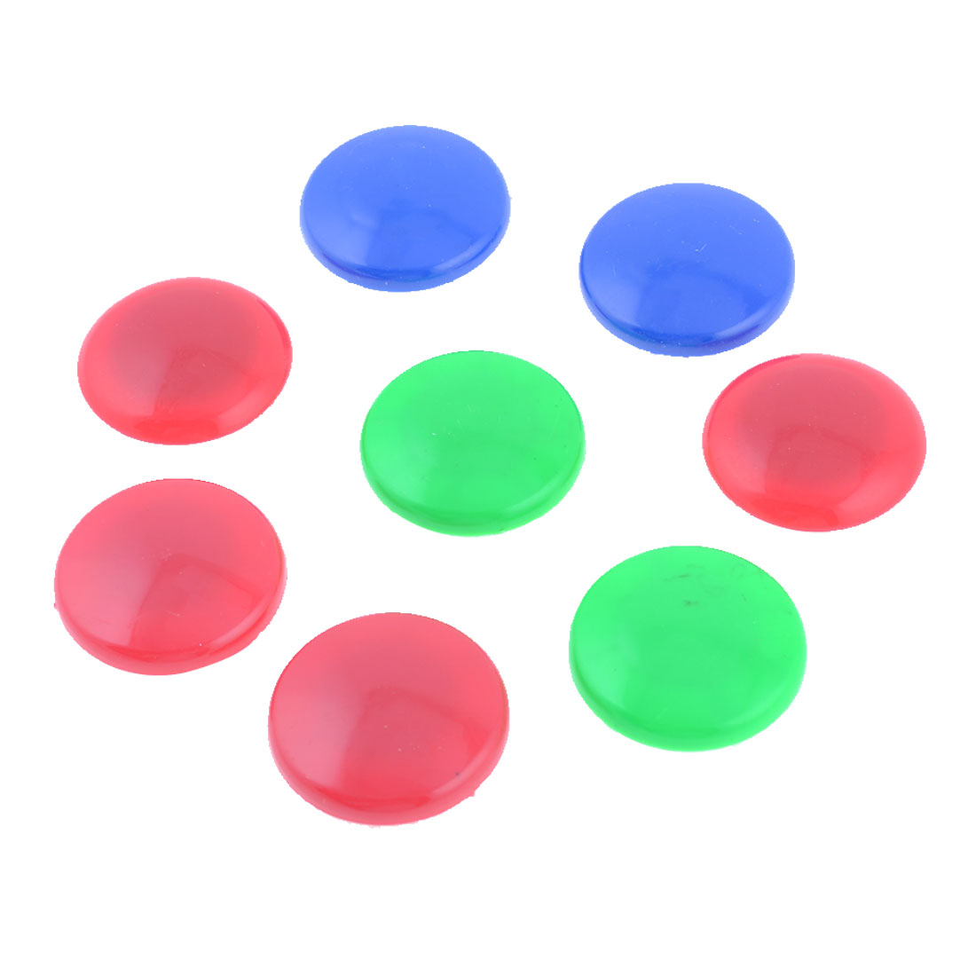 8 Pcs Assorted Color Round Shaped Magnetic Fridge Memo Paper Holder