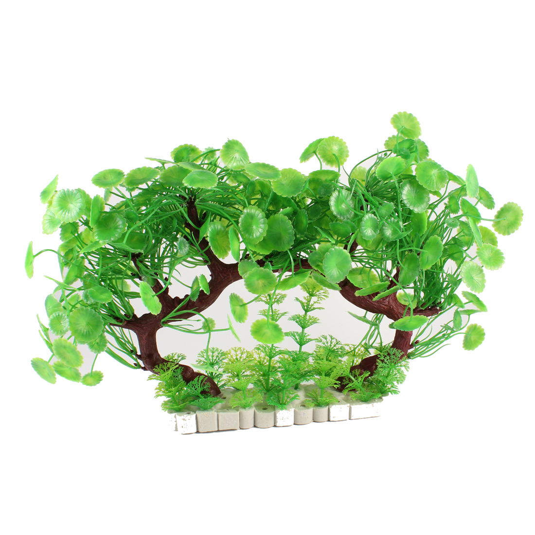 "Aquarium Fish Tank Aquascape Manmade Water Tree Grass Decoration Green 8.6"" Height"