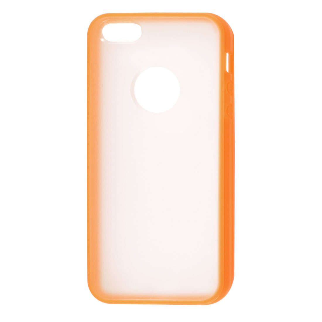 TPU Wire Drawing Plastic Orange Clear Case Guard for Apple iPhone 5 5G