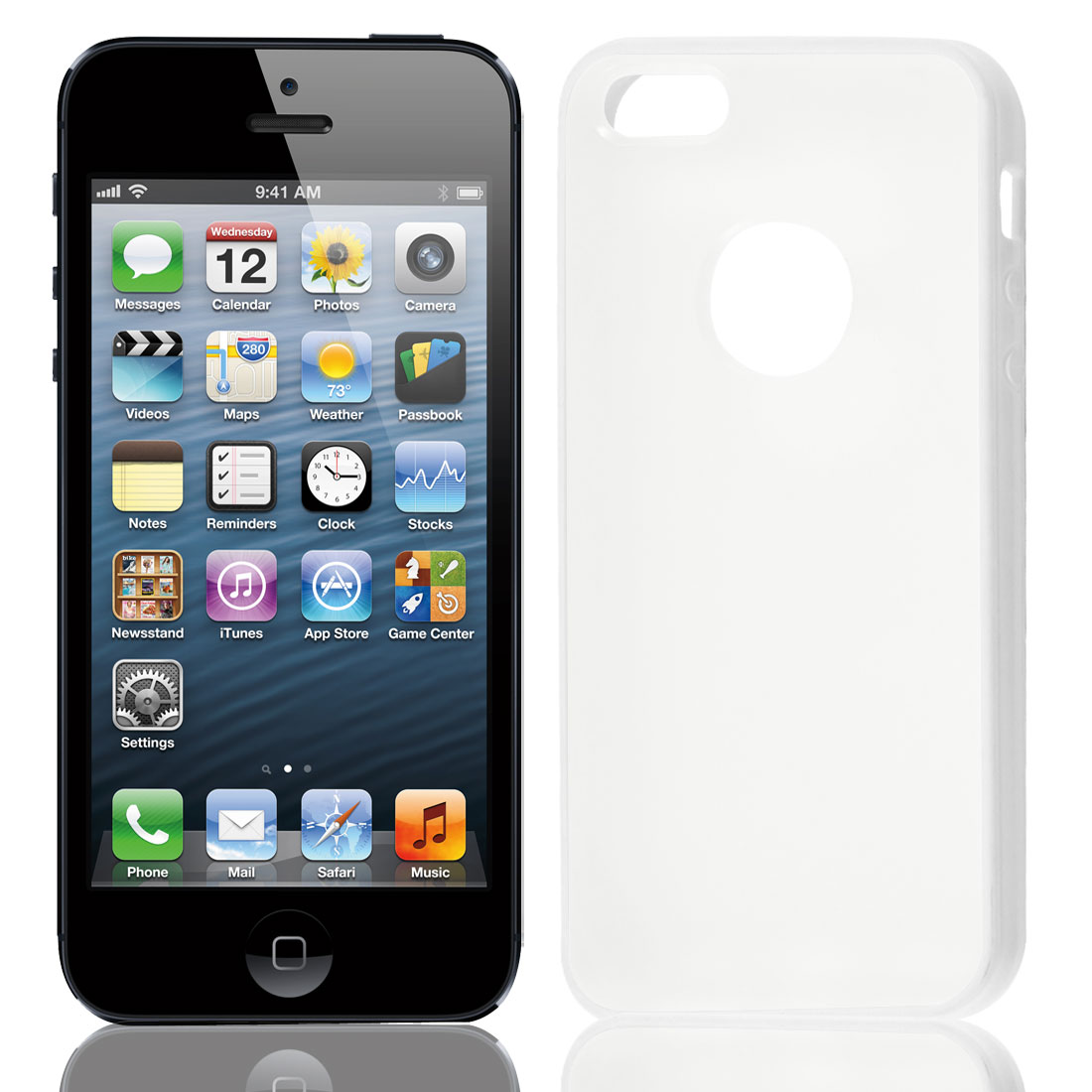 TPU Wire Drawing Plastic White Clear Case Guard for Apple iPhone 5 5G