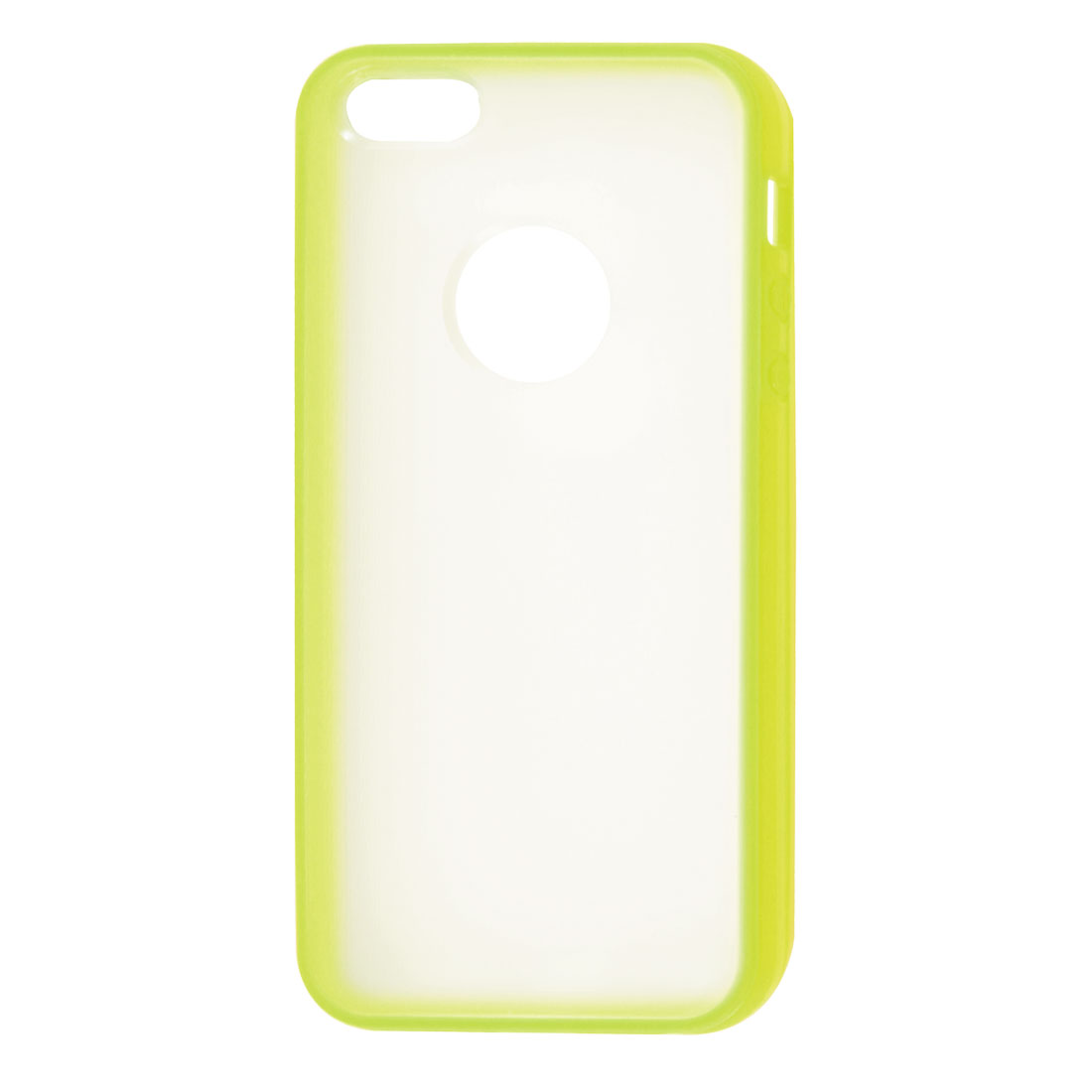 Yellow Hem Clear Back TPU Pastic Case Cover for Apple iPhone 5 5G
