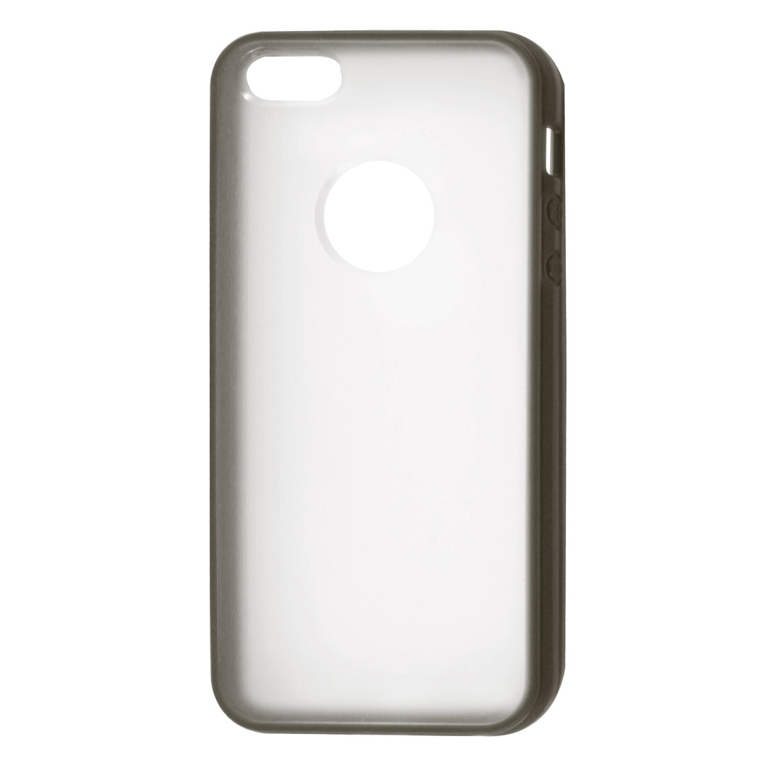 Gray Hem Clear Back TPU Pastic Case Cover for Apple iPhone 5 5G