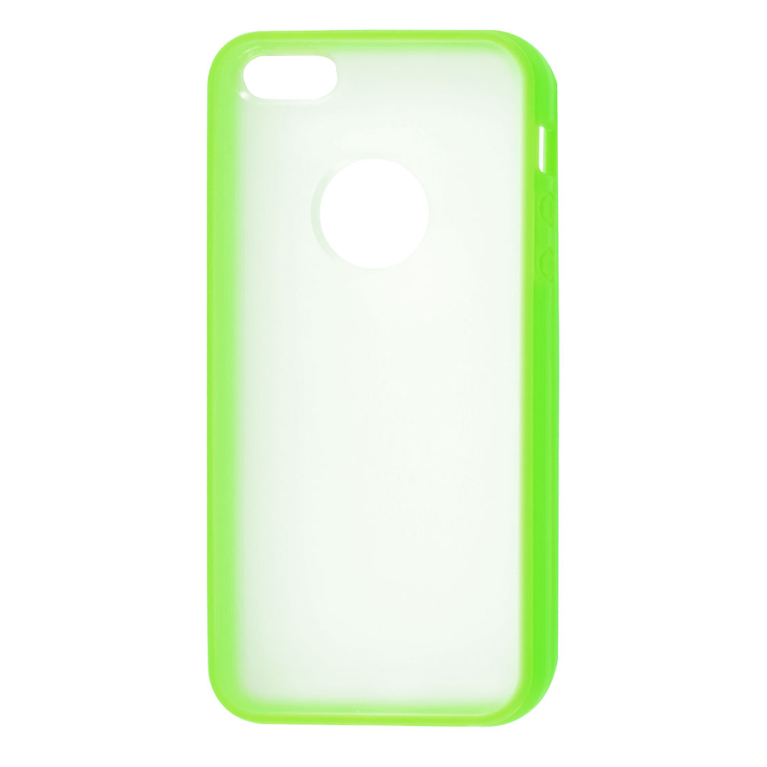 TPU Wire Drawing Plastic Green Clear Case Guard for Apple iPhone 5 5G