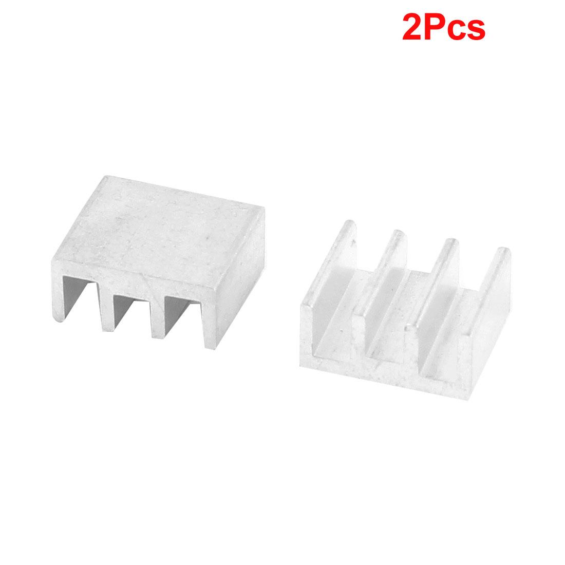 2 Pcs Heat Diffuse Aluminium Heat Sink Cooling Fin 11mm x 10mm x 5mm