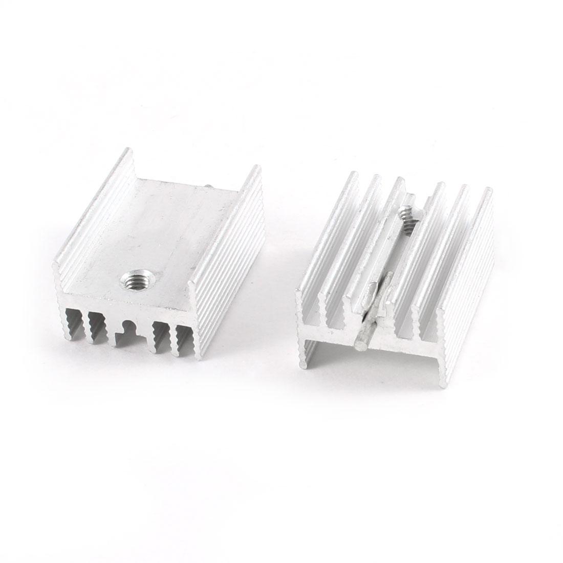 2 Pcs 21mm x 15mm x 10mm Aluminium Heatsink Radiating Cooler Cooling Fin
