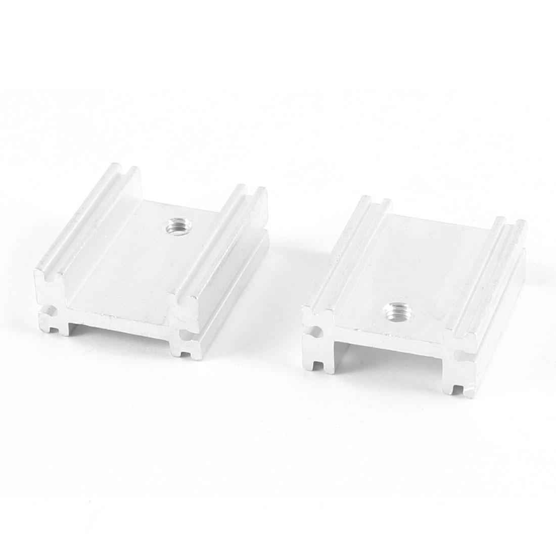 2 Pcs Heat Diffuse Aluminium Heat Sink Cooling Fin 20mm x 18mm x 8mm