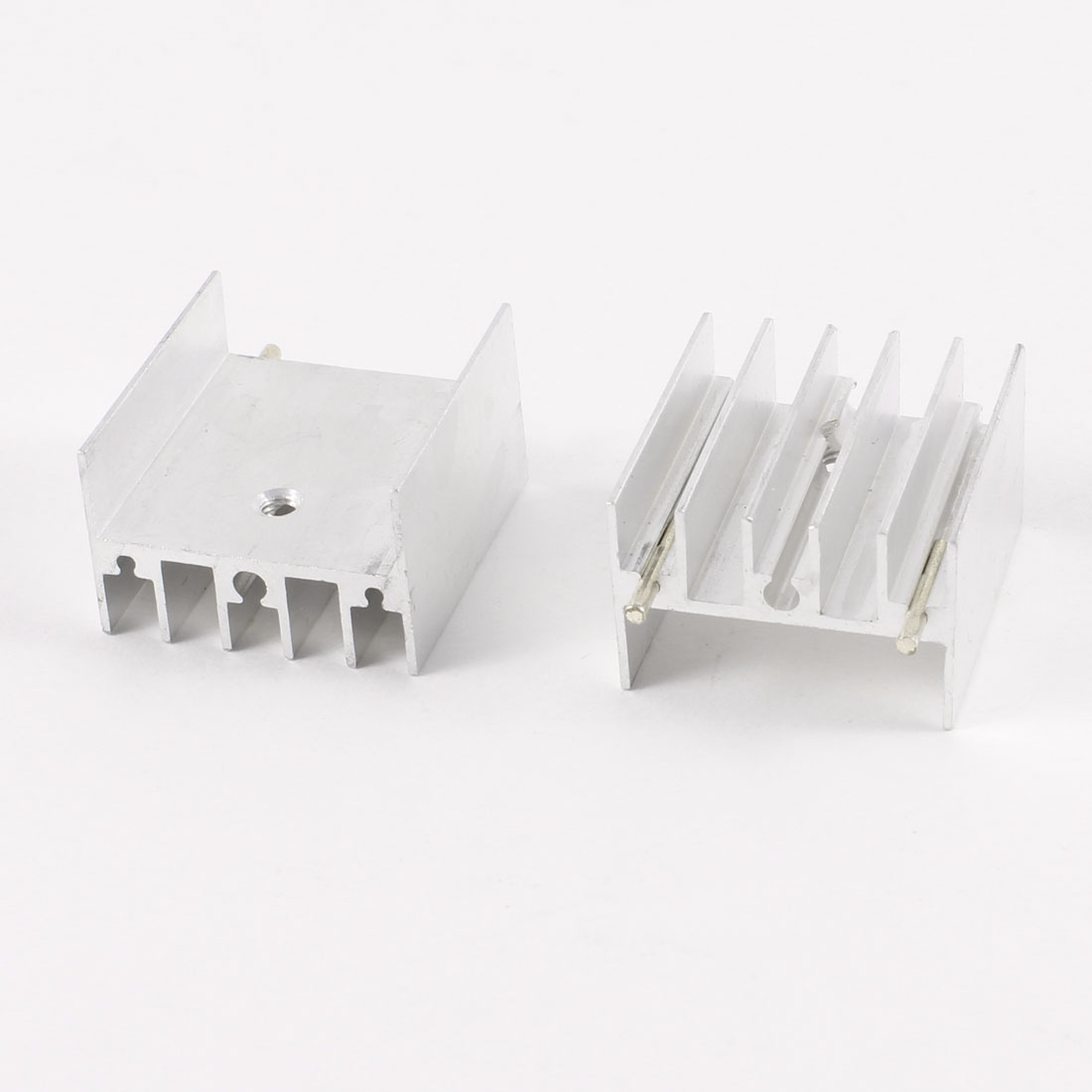 2 Pcs 25mm x 25mm x 15mm Heatsink Heat Dissipation Aluminium Cooling Fin