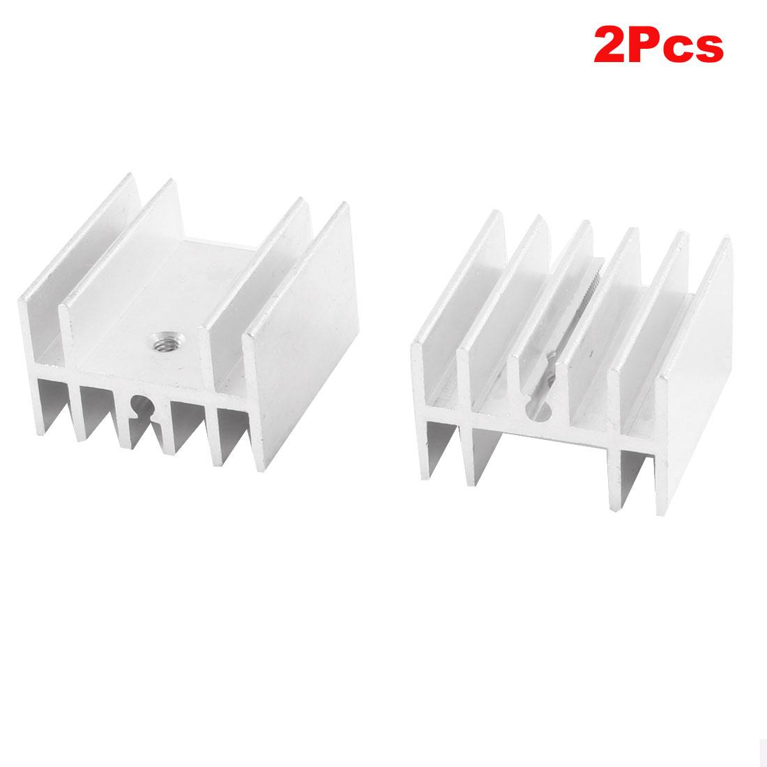 2 Pcs Heat Diffuse Aluminium Heat Sink Cooling Fin 25mm x 24mm x 15mm