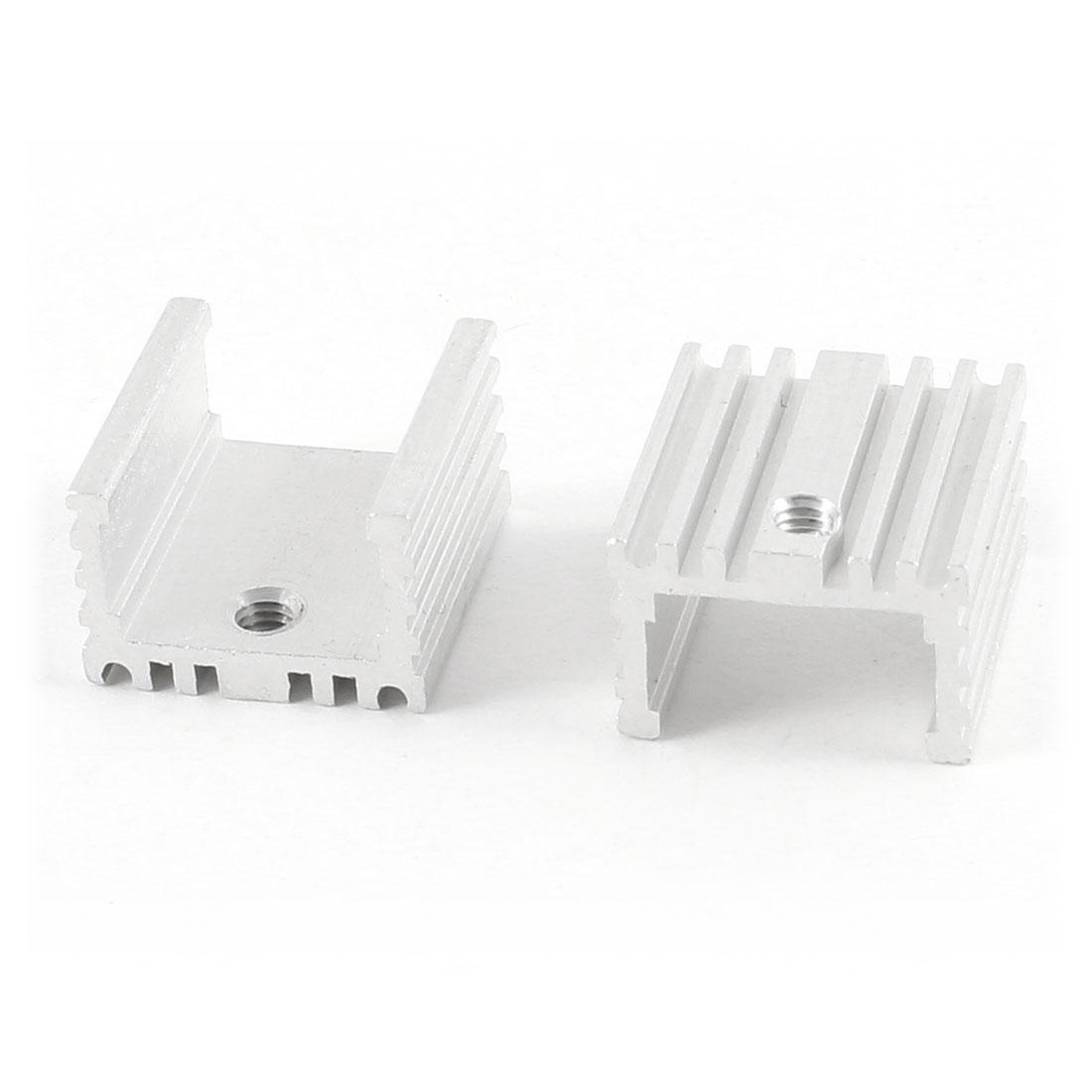 2 Pcs 16mm x 15mm x 10mm Heatsink Heat Dissipation Aluminium Cooling Fin