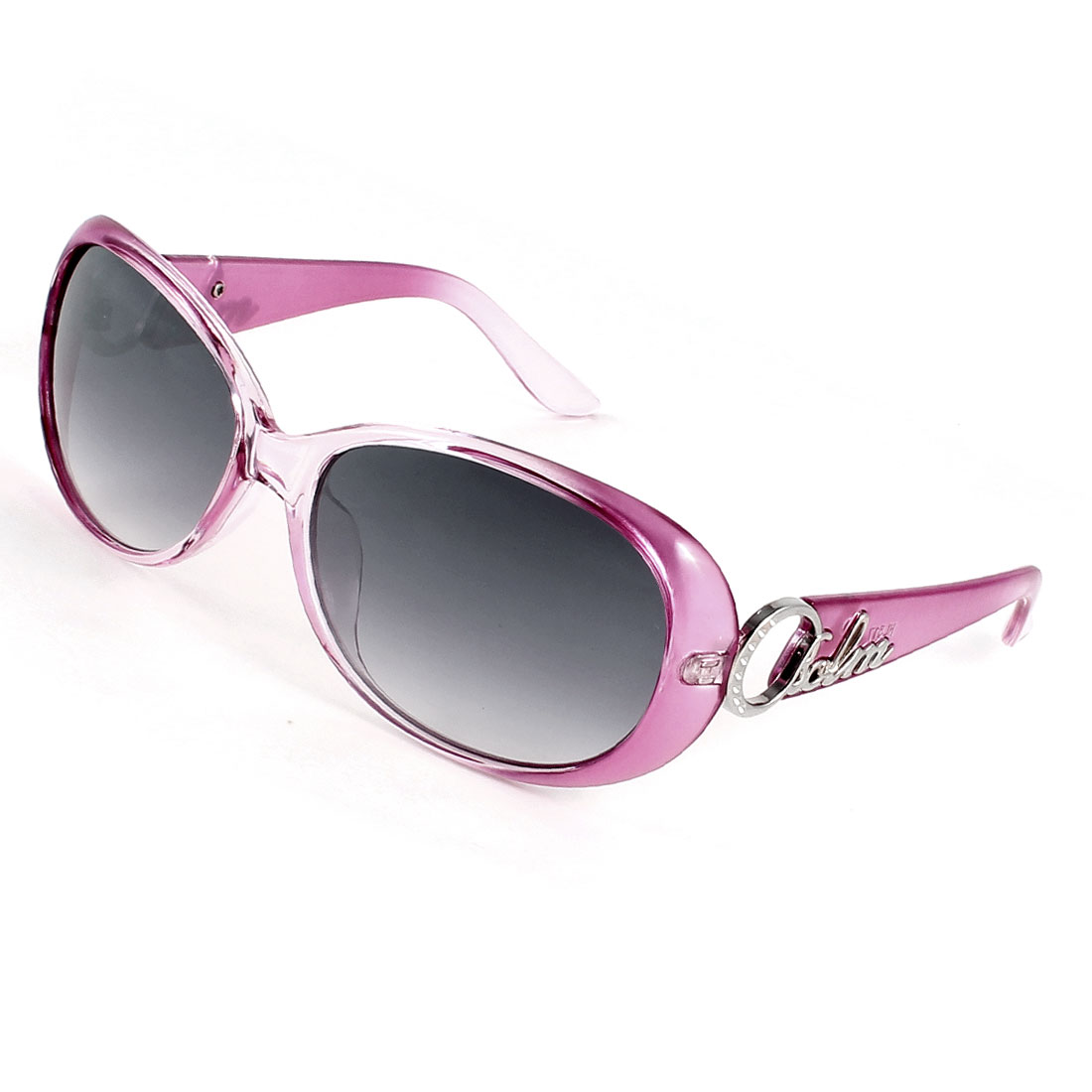 Pink Single Brige Colored Lens Sunglasses for Woman Lady