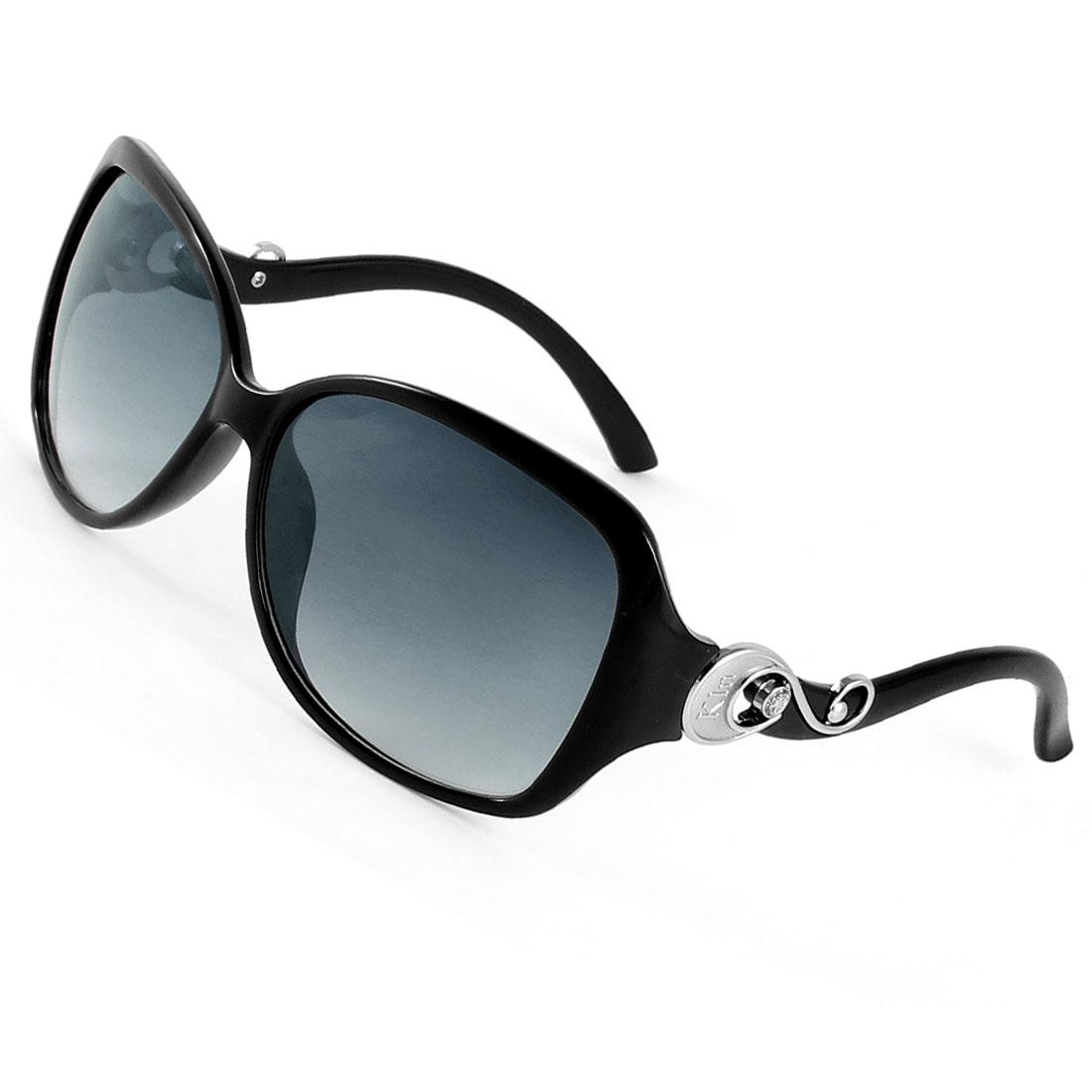 Black Full Frame Tinted Lens Single Brige Sunglasses for Man