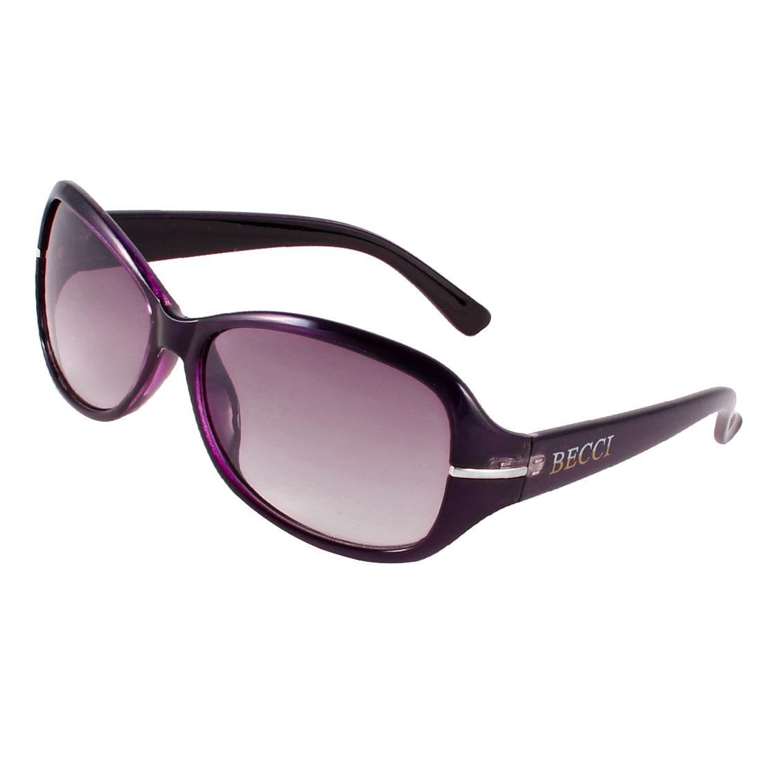 Dark Purple Frame Full Rim Tinted Lens Sport Sunglasses for Man