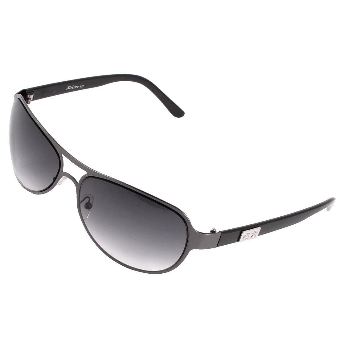 Man Accessory Chinese Pattern Arms Tinted Color Lens Sunglasses