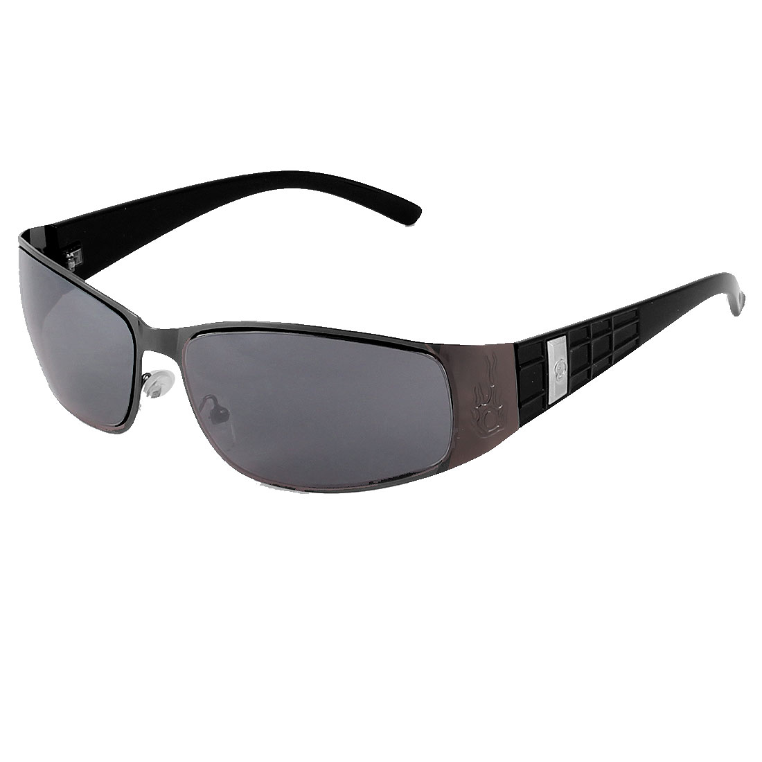 Black Full Frame Tinted Lens Single Brige Sunglasses for Unisex