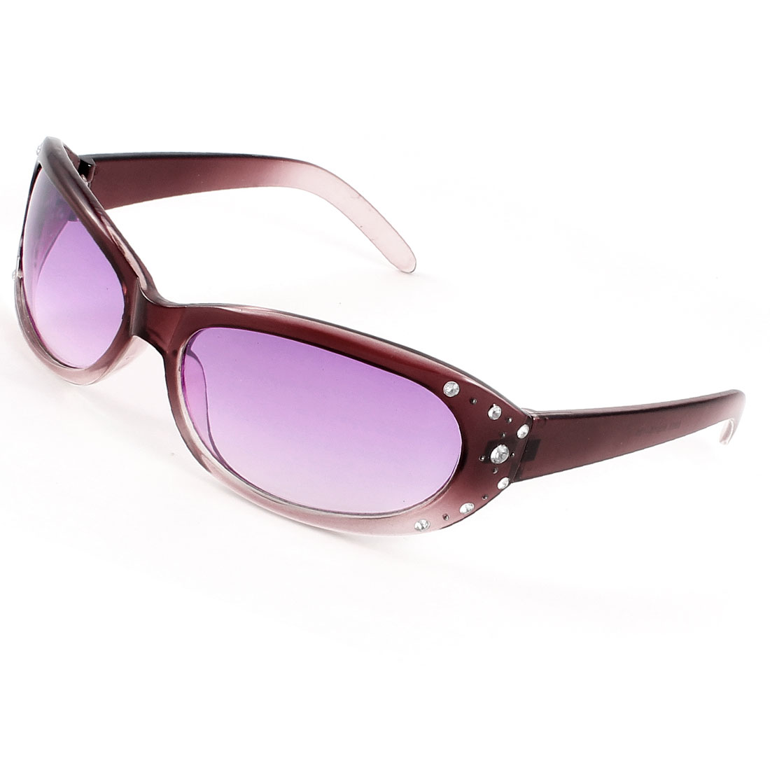 Carmine Frame Full Rims Clear Purple Lens Sport Sunglasses for Woman