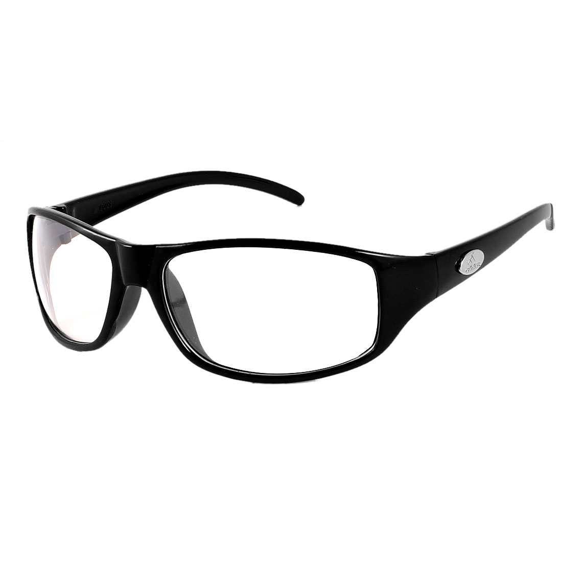 Black Arm Full Frame Single Brige Clear Lens Plain Glasses for Unisex