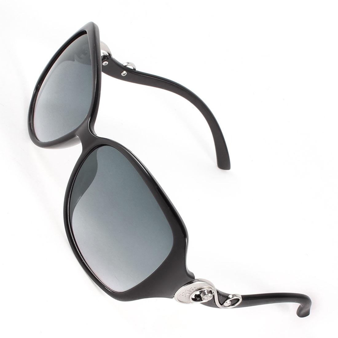 Plastic Full Frame Single Bridge Clear Blue Lens Eyewear Sunglasses for Man
