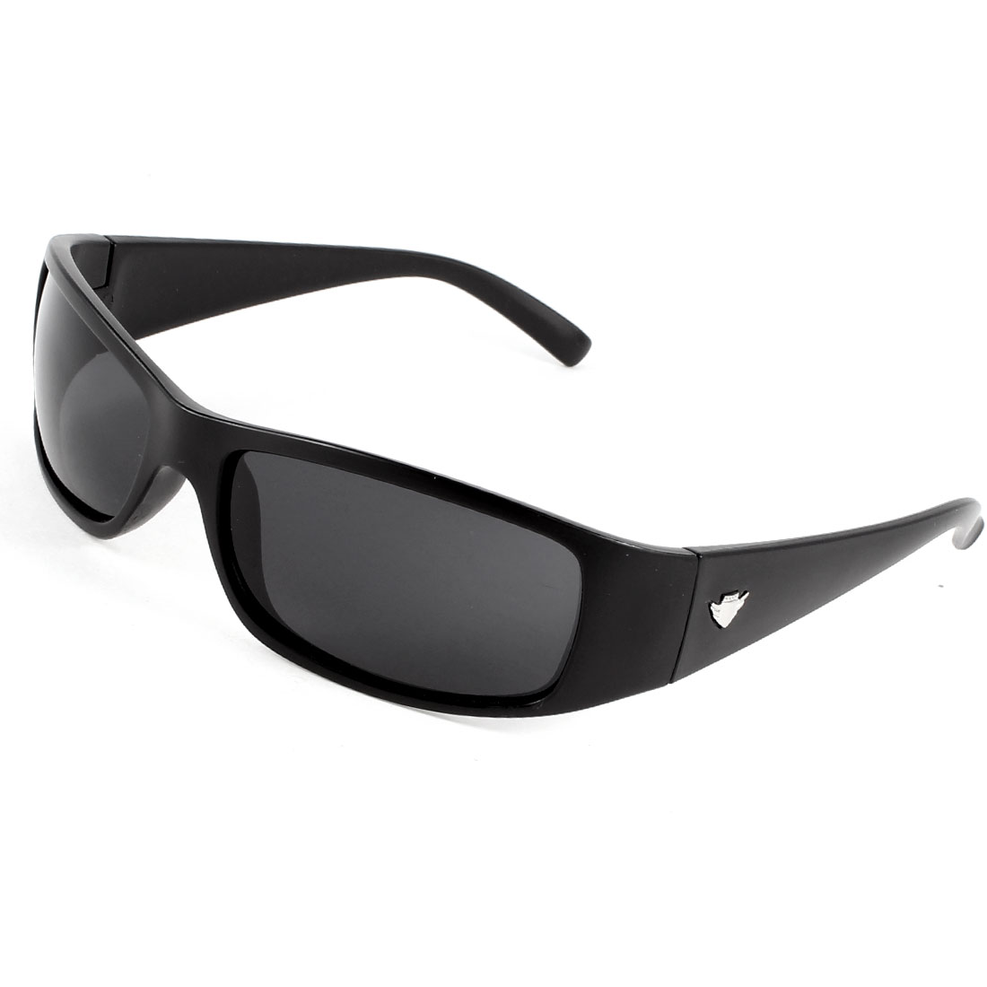 Lady Men Clear Black Lens Plastic Full Rim Frame Sport Sunglasses