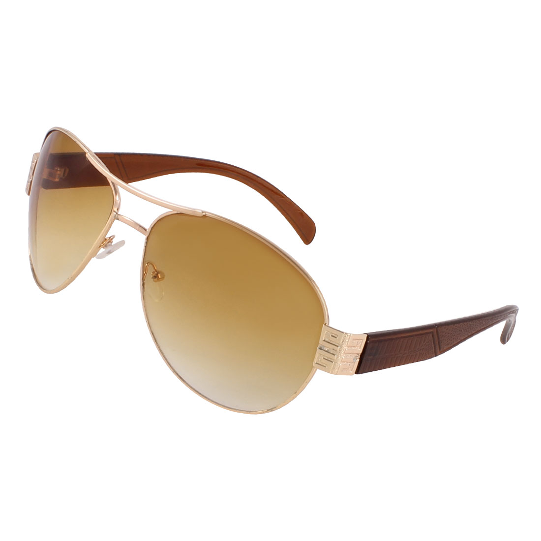 Clear Light Brown Lens Double Bridge Sport Sunglasses for Man