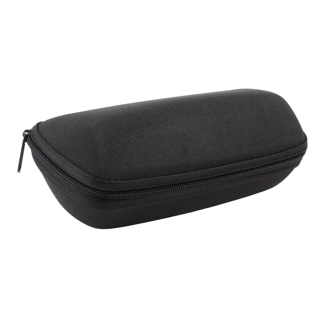 Fleece Lining Textured Zip up Plano Glasses Eyeglasses Case Black