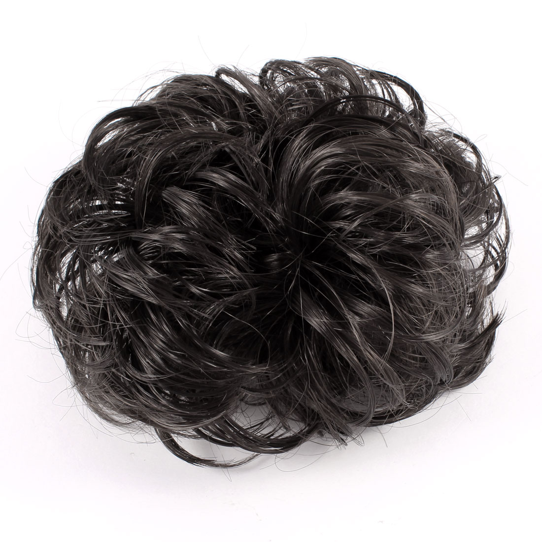 Ladies Short Curly Wig Ponytail Stretchy Hair Tie Hairband Brown