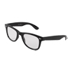 Water Drop Design Clear Lens Wide Arm Eyeglasses Plain Glasses Black for Ladies