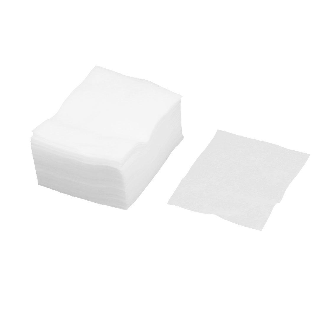 70 Pcs White Soft Rectangle 7 x 6cm Cosmetic Cotton Pads