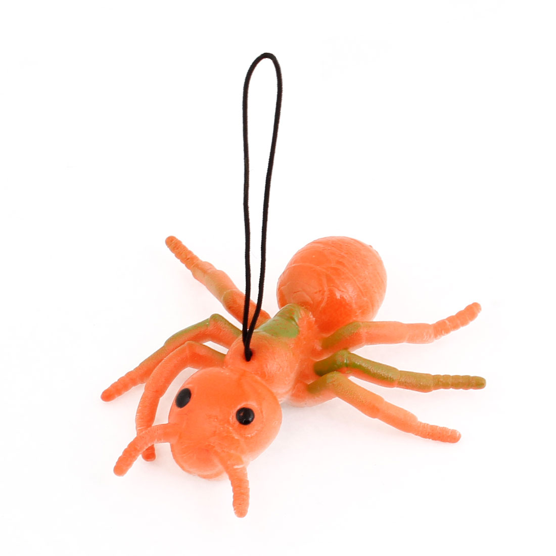 Orange Green Silicone Simulation Ant Shaped Pendant Phone Strap