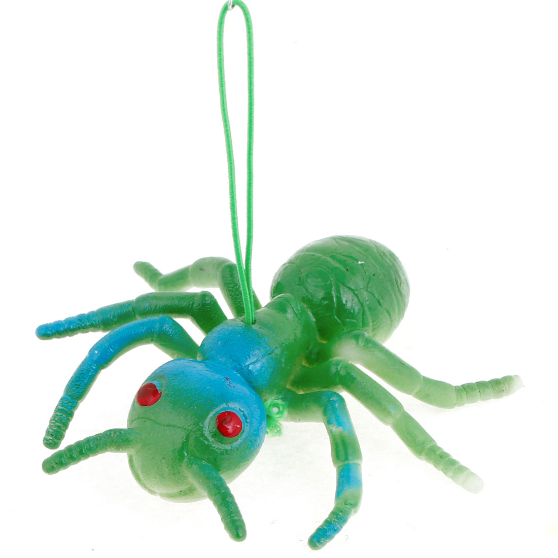 Green Blue Silicone Simulation Ant Shaped Pendant Phone Strap