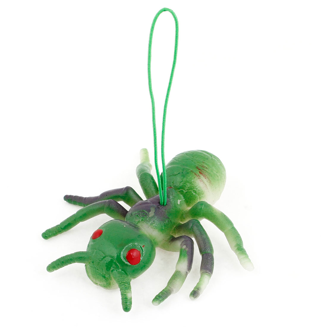 Green Black Silicone Artificial Ant Shaped Pendant Phone Strap