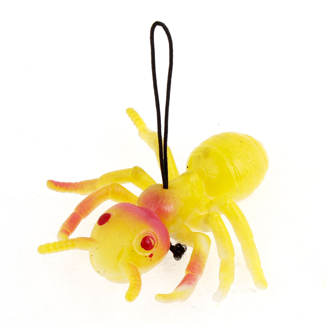 Yellow Red Silicone Simulation Ant Shaped Pendant Phone Strap
