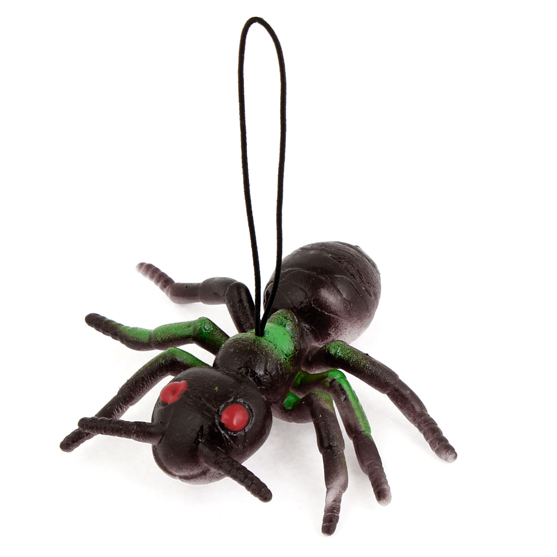 Dark Purple Green Silicone Simulation Ant Shaped Pendant Phone Strap
