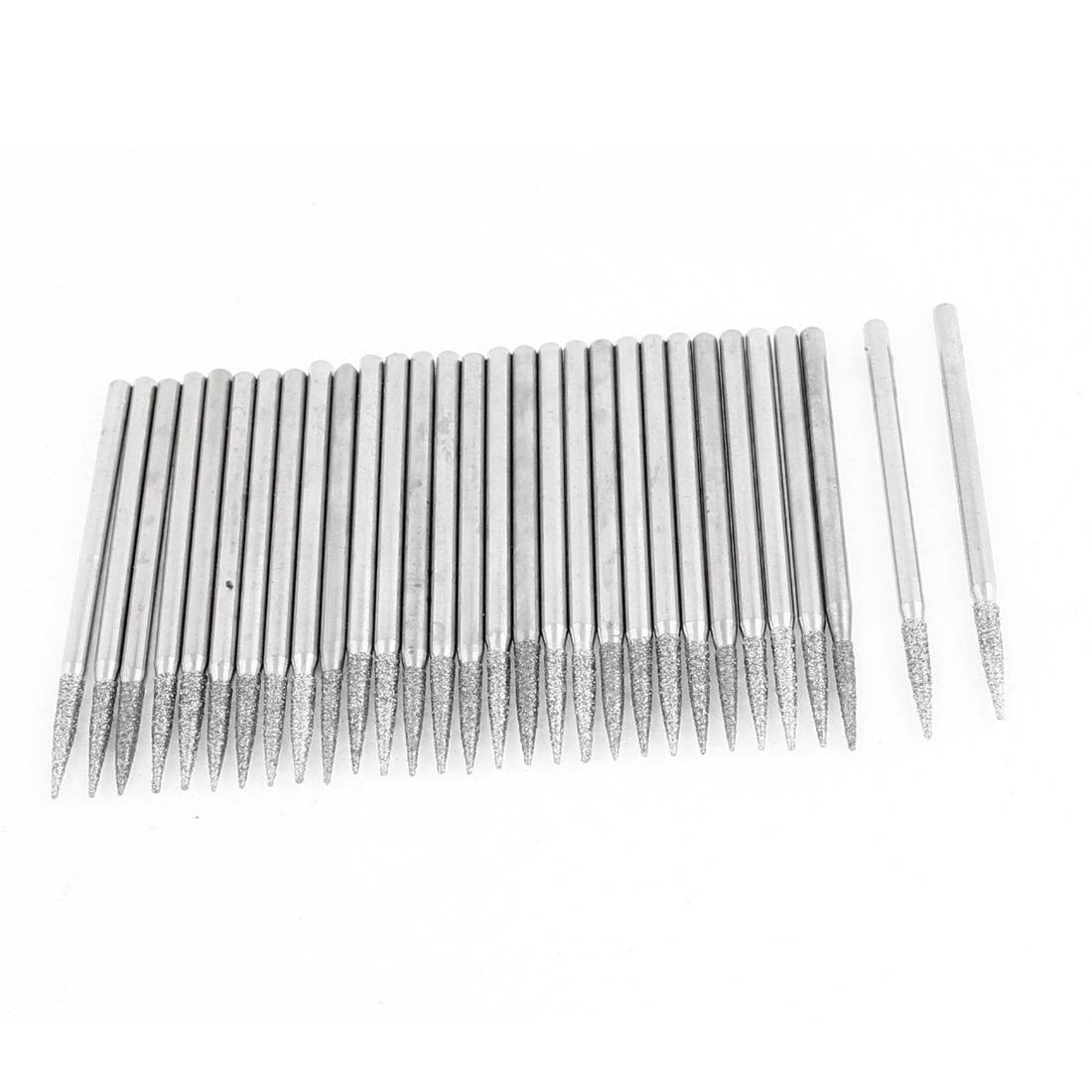 30 Pcs 2.3mm Shank Diamond Coated Taper Point Tip Grinding Bits