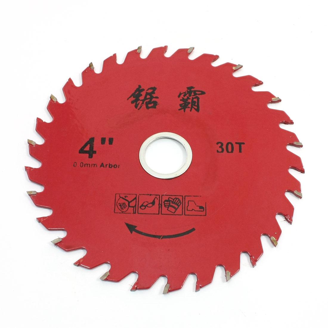 "Lumber Cutter 4"" Diameter 30 Toothed Circular Saw Slice Red"