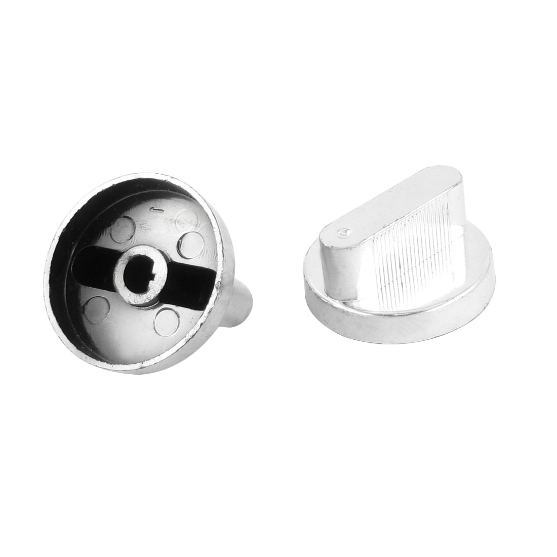 2pcs Replacement Silver Tone Plastic Gas Stove Oven Range Knob 41mm Dia