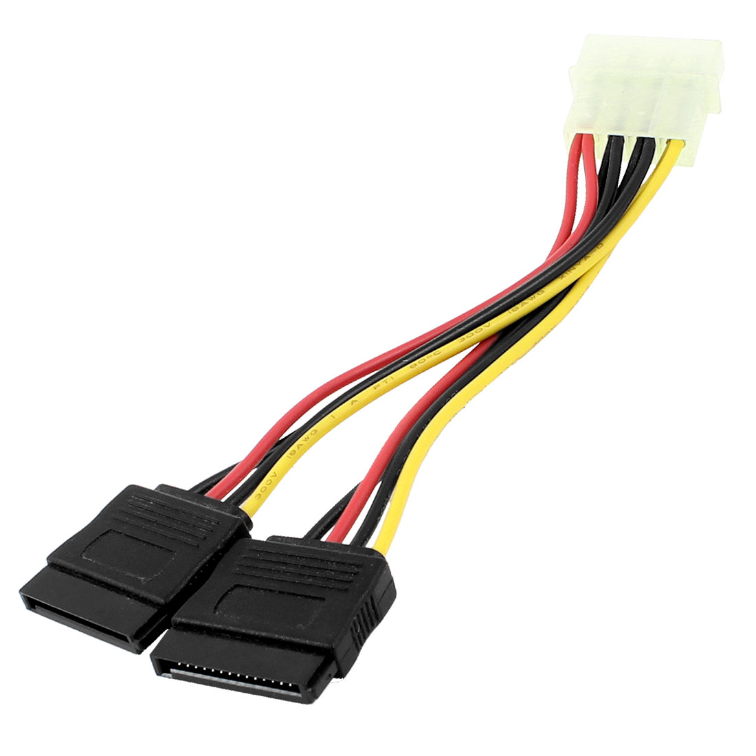 IDE 4 Pin Male to 2 x SATA 15 Pin Female Hard Drive HDD Power Cable Adapter