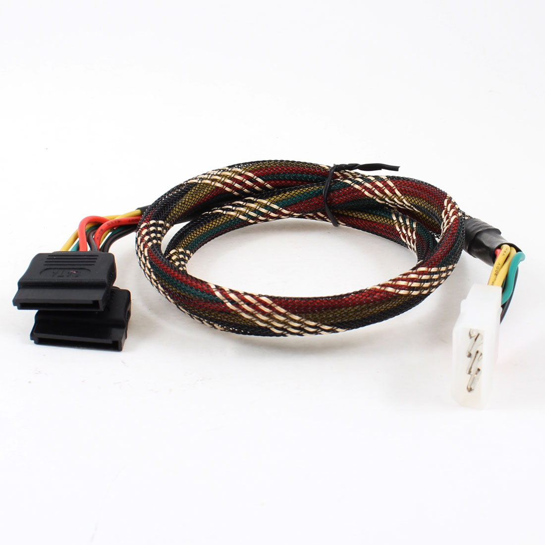 IDE 4 Pin Male to 2 x SATA 15 Pin Female Connector HDD Power Cable Adapter