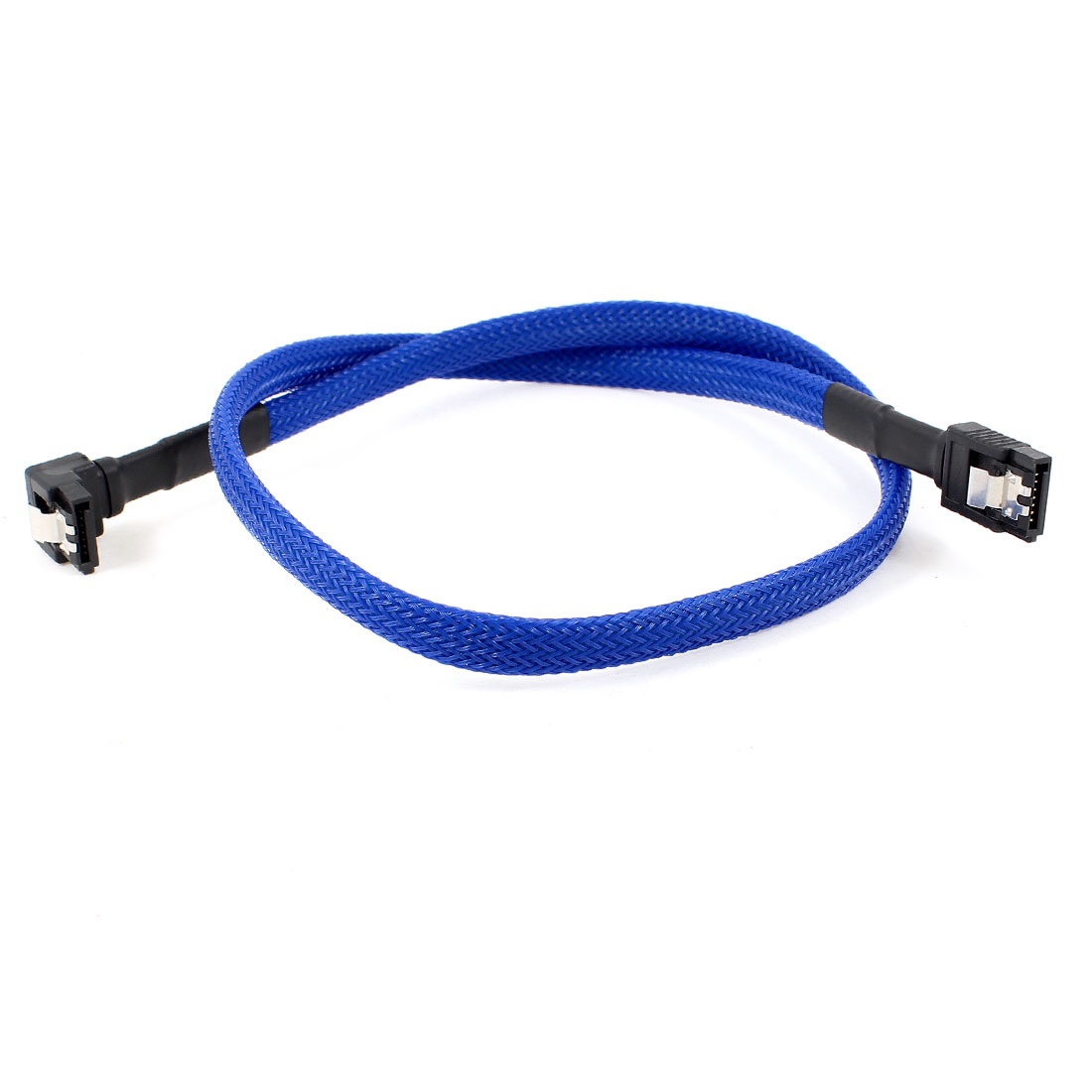 SATA 7 Pin Female to Right Angle 7 Pin Female HDD Data Cable Adapter Blue