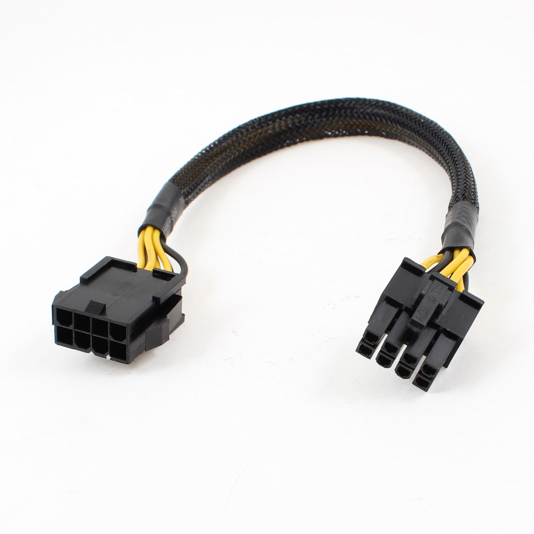 Black Sleeved 8 Pin PCI Express PCIE Power Cable Male to Female