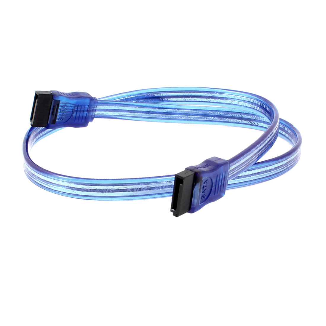 Straight SATA 7 Pin Female to 7 Pin Female HDD Data Cable Adapter Lead Blue