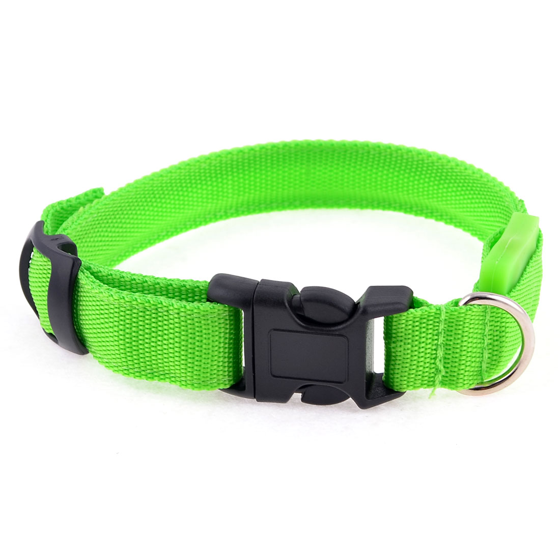 Pet Dog Cat Green Safety LED Flash Light Nylon Leash Rope Strap 17""