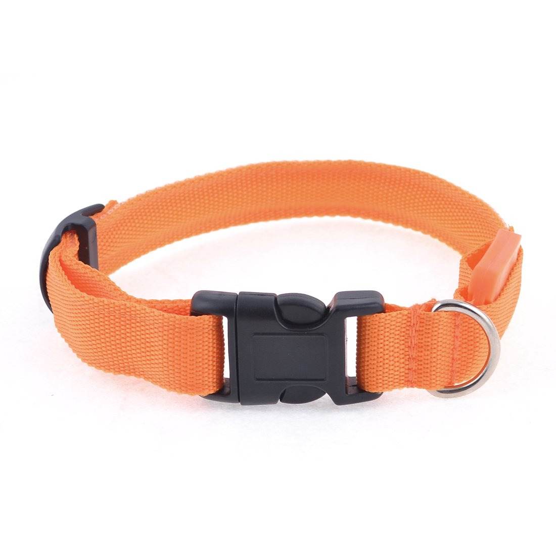 Release Buckle Orange LED Flash Light Leash Rope Strap for Puppy Dog Pet