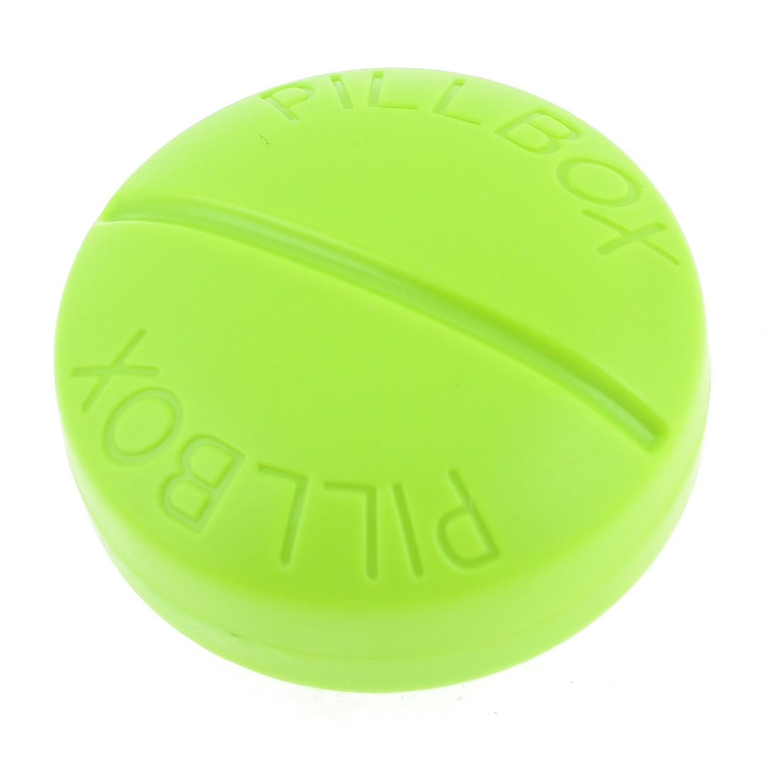 Home Travel Plastic Green Round 4 Compartments Medicine Storage Holder Pill Box