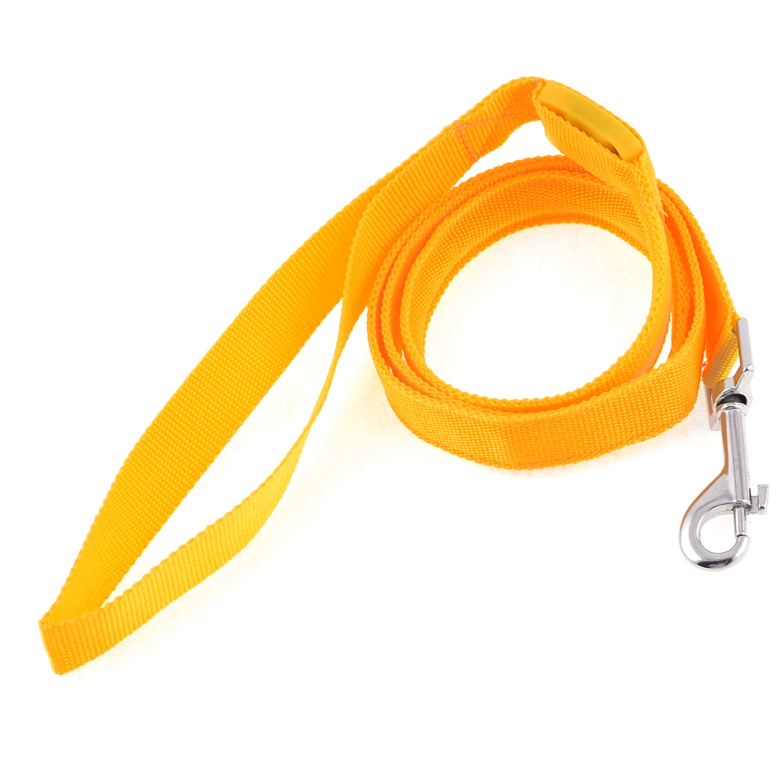 Pet Dog Yellow LED Flash Light Nylon Traction Rope Pulling Leash Lead 1.8cm Wide