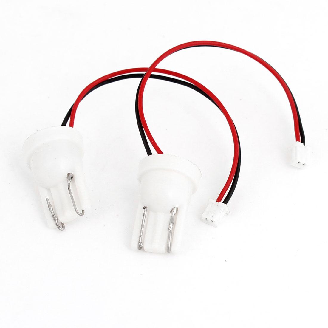 Vehicle Car Meter Gauge Panel LED Lamp Light T10 Adapter x 2