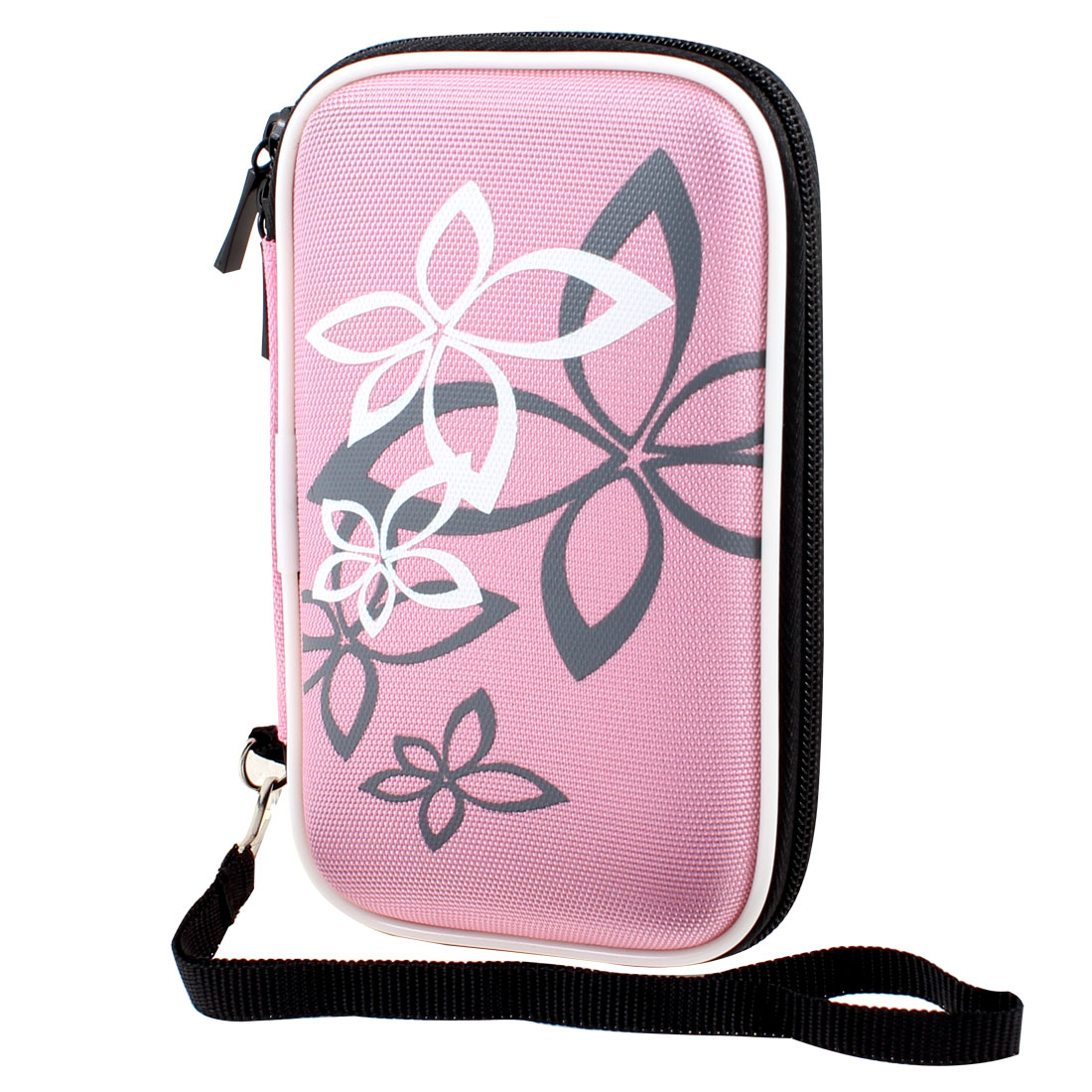 "Pink Protective Case Bag Pouch Zipper Closure for 2.5"" HDD Hard Drive Disk"