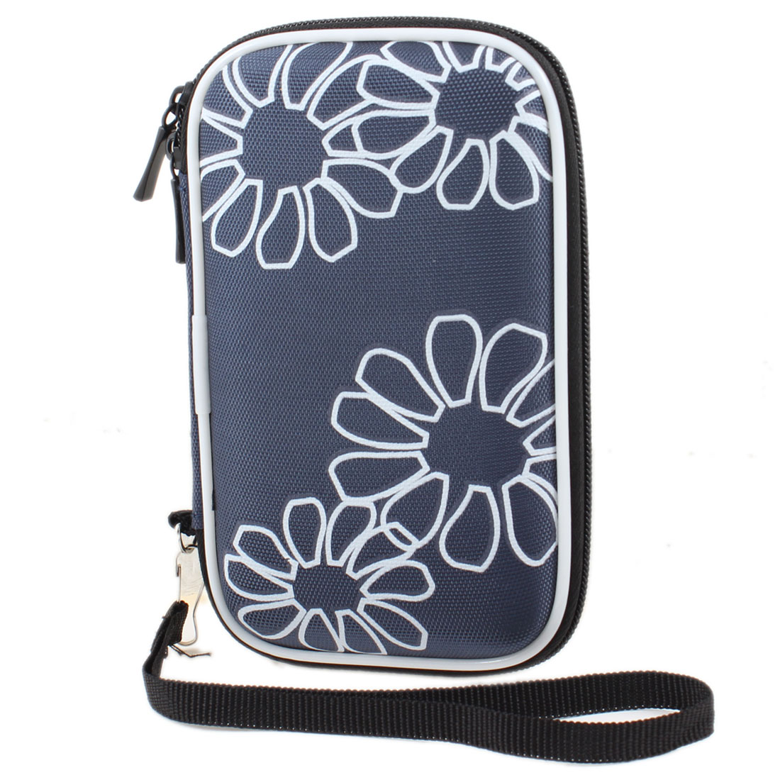 "Dark Blue Protective Case Bag Pouch Zipper Closure for 2.5"" HDD Hard Drive Disk"