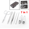 7 in 1 Nail Care Cutters File Tweezers Manicure Tool Set